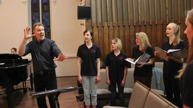 The composer and the choir